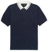Rag & Bone Jason Contrast-Collar Knitted Cotton Polo Shirt