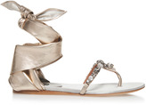 Etro Metallic Wraparound Sandal