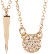 Melinda Maria Cade CZ Pave & Katrina Spike Necklace Set