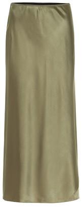 Dorothee Schumacher Sense of Shine satin midi skirt
