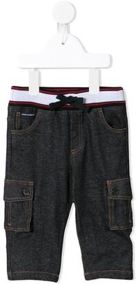 Dolce & Gabbana striped detail trousers