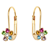 Sweet & Soft Gold & Crystal Flower Huggie Earrings