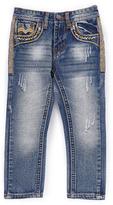 Monarchy Blue & Gold Detail Fashion Premium Denim Jeans