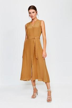 Karen Millen Silk Sleeveless Long Dress