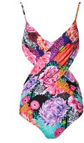 Matthew Williamson Miyazaki Mirage Wrap Front Swimsuit