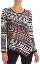 Nic+Zoe Plus Long Sleeve Crosswise Top