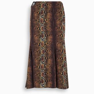 Versace Phyton print midi skirt