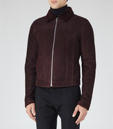 Reiss Reiss Phoenix - Shearling Jacket In Red