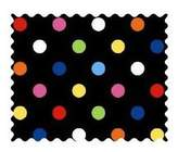 Camilla And Marc SheetWorld Primary Colorful Dots Woven Fabric - By The Yard - 101.6 cm (44 inches)