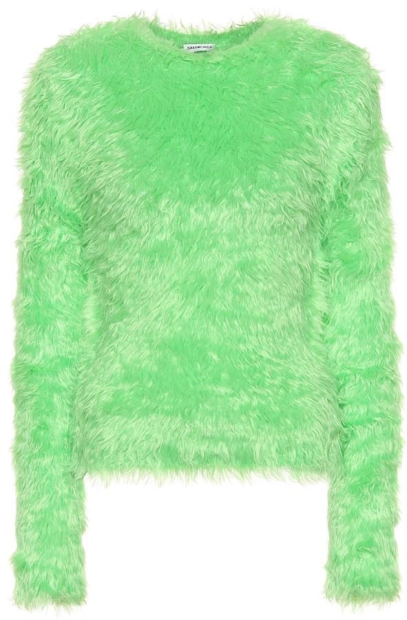 Balenciaga Faux fur sweater ShopStyle