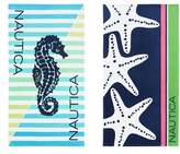 Nautica Seahorse Stripe Set of 2 Beach Towels