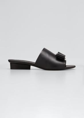Salvatore Ferragamo Valery Viva Vara Bow Flat Sandals