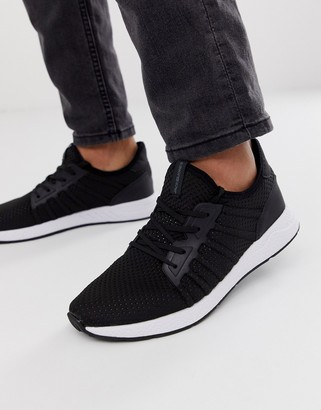 Jack and Jones mesh sneaker with soft upper in black