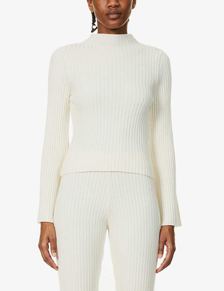 Cordova Solitude bell-sleeve wool-cashmere blend top