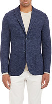 Barneys New York MEN'S PIQUÉ-KNIT SPORTCOAT-NAVY SIZE 48 R