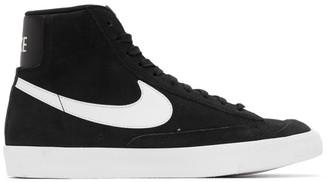 Nike Black and White Suede Blazer Mid 77 Vintage Sneakers