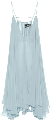 Jacquemus La Robe Bellezza crApe dress
