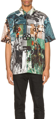 Burberry Hyde Shirt in Monochrome IP Pattern | FWRD