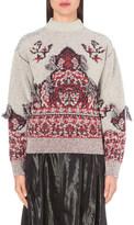 Toga Jacquard wool-blend jumper