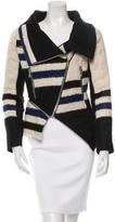 Yigal Azrouel Striped Asymmetrical Jacket