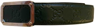 Gucci Green Leather Belts