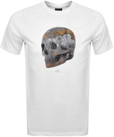 PS By Paul Smith Skull Logo T Shirt White