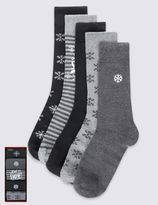 Marks and Spencer 5 Pairs Cotton Rich Christmas Socks