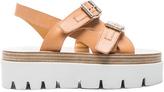 MM6 MAISON MARGIELA Platform Buckled Leather Sandals