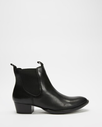 Atmos & Here Atmos&Here - Women's Black Chelsea Boots - Nicole Leather Ankle Boots - Size 5 at The Iconic