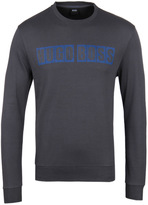 Boss Slate Grey Square Print Crew Neck Sweatshirt