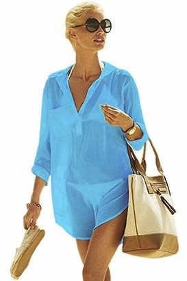 Yuson Girl Summer Large Ladies Beach Cover Up Bikini Swimsuit Beach Cover Ups and Kaftans for Women Uv Beach Wear Sheer Body Cover Up Beach Wear Long Beach Dress Plus Size Beach Top (Green)