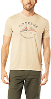 Dockers Graphic Flags Crew Neck T-shirt, Crossed Flags Safari