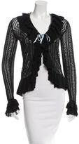 Anna Sui Ruffled Long Sleeve Cardigan