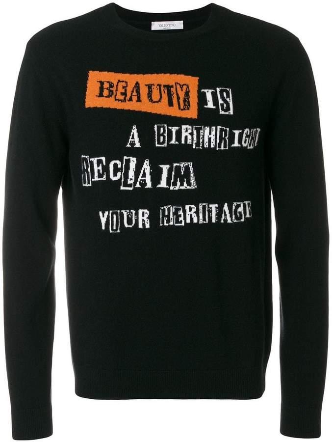 Valentino beauty is a birthright intarsia jumper