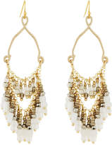 Nakamol Teardrop Earrings w/ Beaded Fringe