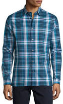 Vince Plaid Long-Sleeve Sport Shirt, Navy