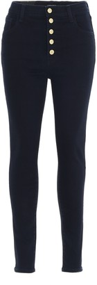 J Brand Lillie Button-Detiled Skinny Jeans
