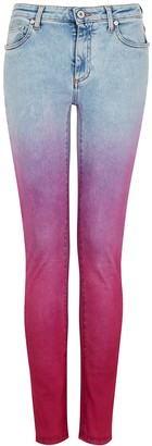 Off-White Fuchsia Degrade Skinny Jeans