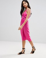 Asos Design DESIGN Eyelet Tie Side Midi Beach Dress