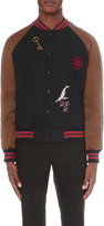 Lanvin Embroidered Wool And Satin Bomber Jacket