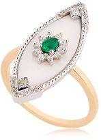 Surf Emerald Diamond Ring