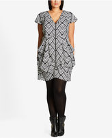 City Chic Trendy Plus Size Zip-Front Tunic
