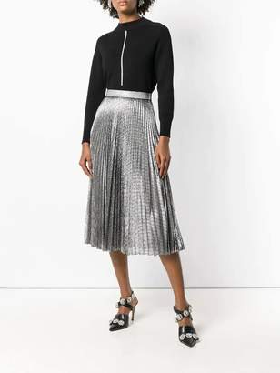 Christopher Kane pleated lame mesh skirt