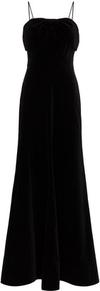 The Vampire's Wife Bow-Detailed Fluted Gown