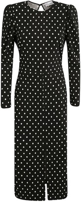 RED Valentino Dotted Print Exposed Back Dress