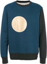 Vivienne Westwood colour-block moon sweatshirt - men - Cotton - M