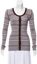Dolce & Gabbana Striped Scoop Neck Cardigan w/ Tags