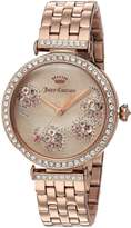 Juicy Couture Women's 1901517 J COUTURE Analog Display Quartz Rose Gold Watch