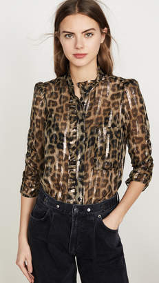 BA&SH Leopard Blouse