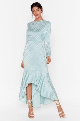 Nasty Gal Womens Not Today Satin Midi Dress - Mint